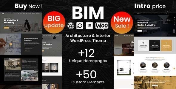 BIM 1.1.0 – Architecture & Interior Design Elementor WordPress Theme