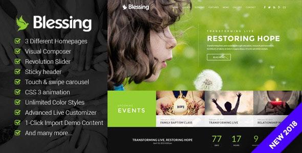Blessing 1.6.3.0 – Responsive WordPress Theme for Church Websites