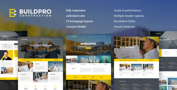 BuildPro 1.1.2 – Business, Building & Construction WordPress Theme