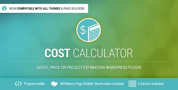 Cost Calculator WordPress v2.3.5