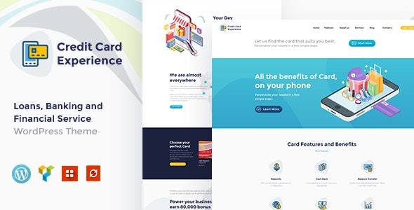 Credit Card Experience 1.2.6 – Loan Company and Online Banking WordPress Theme