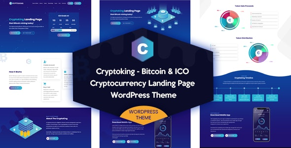 Cryptoking 2.0.9 – Bitcoin & ICO Theme