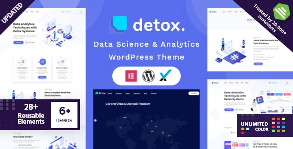 Detox 1.7 – Data Science & Analytics WordPress Theme