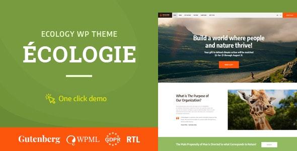 Ecologie 1.0.4 – Environmental & Ecology WordPress Theme
