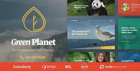 Green Planet 1.1.0 – Ecology & Environment WordPress Theme