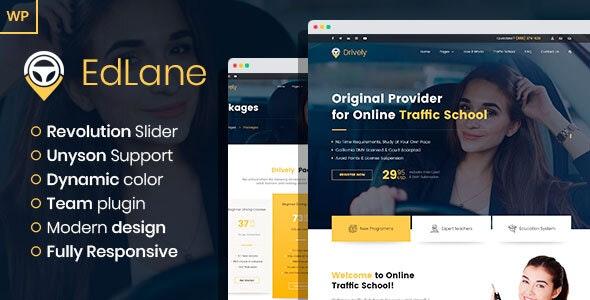 EdLane 1.0 – Driving School WordPress theme