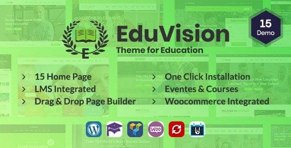 Eduvision 1.0 – Online Course Multipurpose Education WordPress Theme