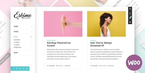 Eskimo 1.8.1 – Minimal Personal WordPress Blog & Shop Theme
