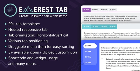 Everest Tab 1.1.8 – Responsive Tab Plugin For WordPress