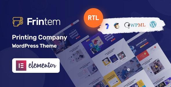 Frintem 1.0.4 – Printing Company WordPress Theme