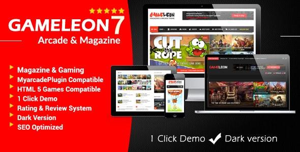 Gameleon 7.4 – WordPress Arcade & Magazine Theme