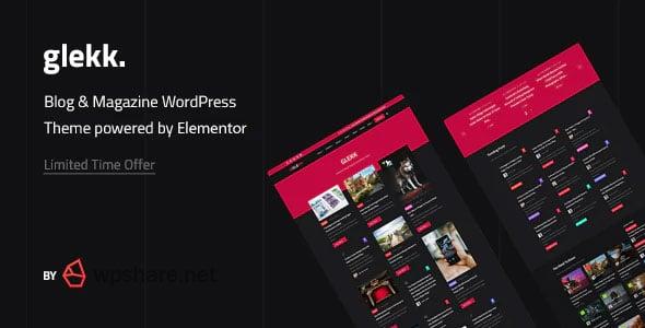 Glekk 1.2 – Elementor Blog & Magazine WordPress Theme