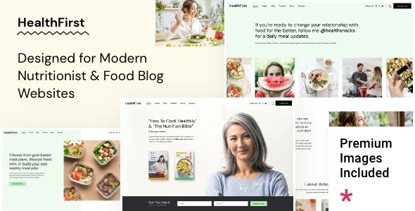 HealthFirst 1.0.1 – Nutrition and Recipes Theme