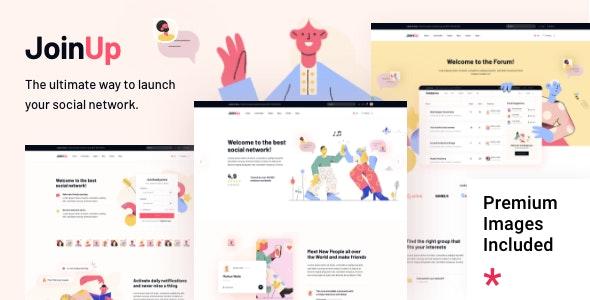 Join Up 1.0 – BuddyPress Community Theme