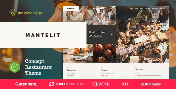 Mantelit 1.0.6 – Restaurant WordPress Theme