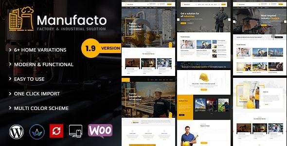 Manufacto 2.4 – Factory WordPress Theme