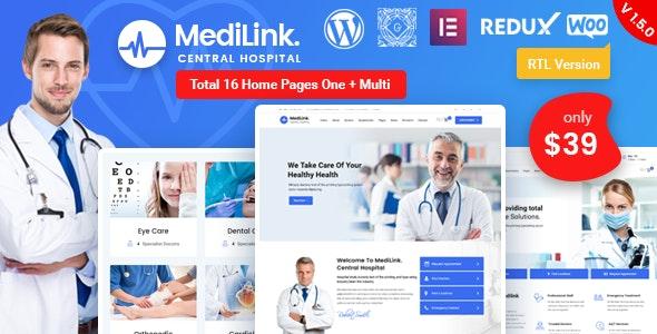 Medilink 1.5.6 – Health & Medical WordPress Theme