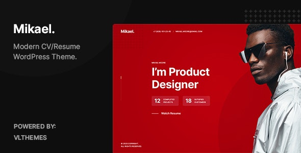 Mikael 1.0.4 – Modern & Creative CV/Resume WordPress Theme