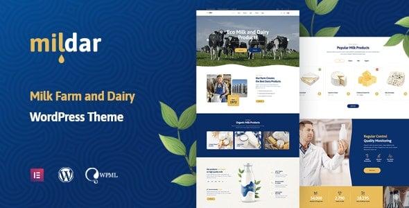 Mildar 1.0.2 – Dairy Farm & Milk WordPress Theme