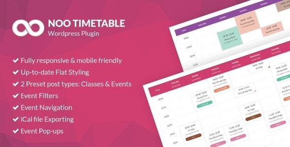 Noo Timetable 2.1.4  Responsive Calendar & Auto Sync WordPress Plugin