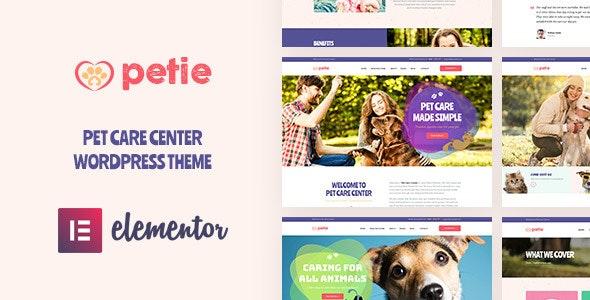 Petie 1.1.0 – Pet Care Center & Veterinary WordPress Theme