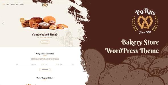 Porus 1.0.5 – Bakery Store WordPress Theme