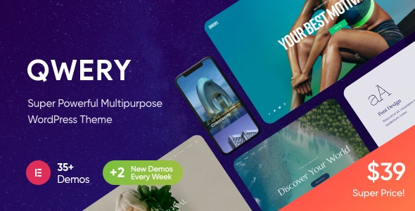 Qwery 1.0.3 – Multi-Purpose Business WordPress Theme + RTL
