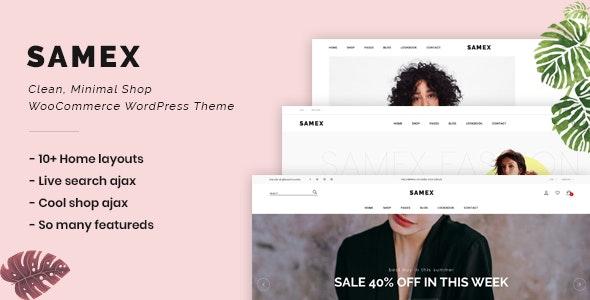 Samex 2.0 – Clean, Minimal Shop WooCommerce WordPress Theme