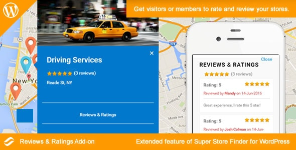 Social Store Locator 2.1 – Reviews & Ratings Add-on