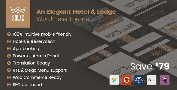 Solaz 1.2.2 – An Elegant Hotel & Lodge WordPress Theme