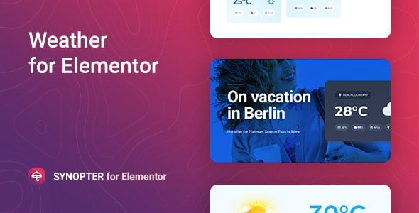 Synopter 1.0.2 – Weather for Elementor Addons
