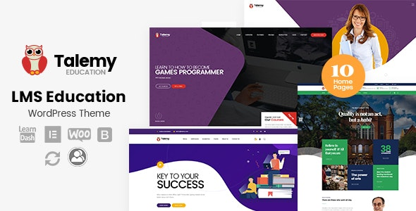 Talemy 1.2.4 – LMS Education WordPress Theme