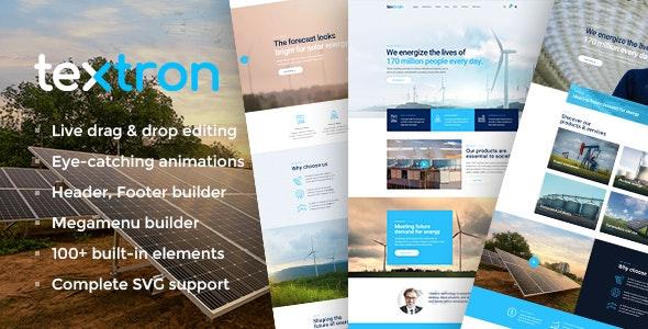 Textron 2.0 – Industrial WordPress Theme + WooCommerce Shop