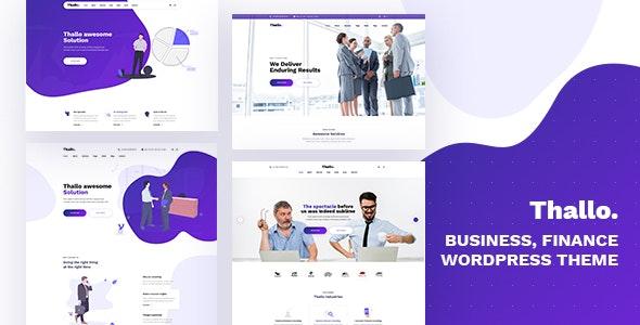 Thallo 1.0.6 – Consulting & Finance WordPress Theme