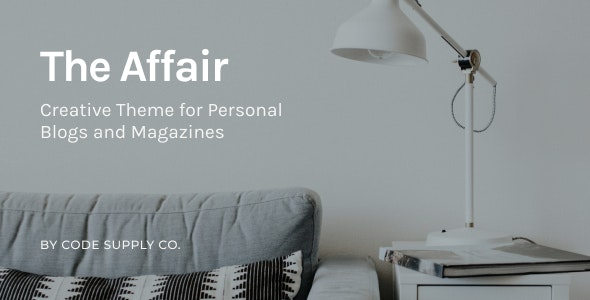 The Affair 3.4.6 – Creative Theme for Personal Blogs and Magazines