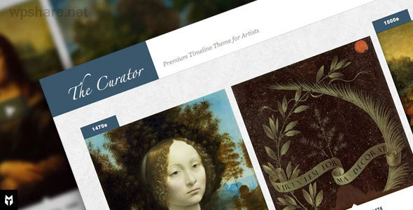 The Curator 1.4.9.3 – Premier WP Timeline Theme for Artists