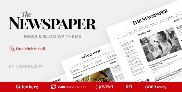 The Newspaper 1.1.1 – Magazine Editorial WordPress Theme