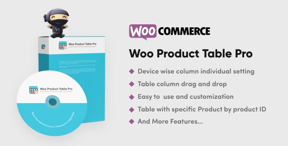 Woo Product Table Pro 8.0.0 – WooCommerce Product Table view solution