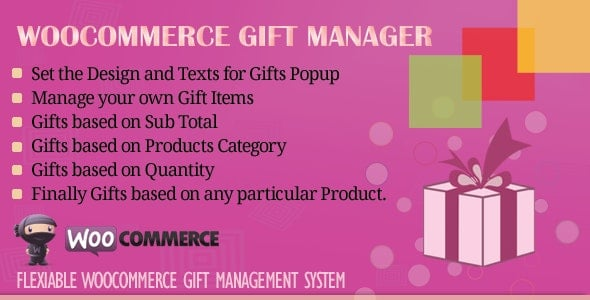 WooCommerce Gift Manager v3.0 – WordPress Plugin