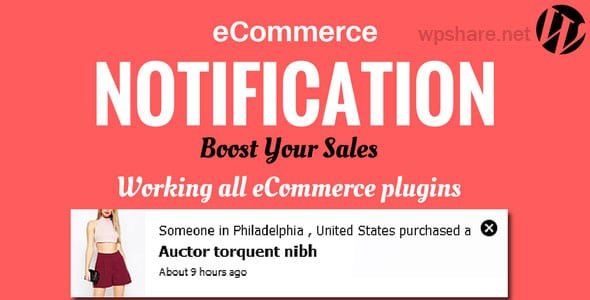 WordPress eCommerce Notification v1.0.6.3