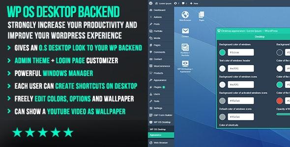 WP OS Desktop Backend 1.159 – More than a WordPress Admin Theme