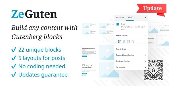 ZeGuten — Gutenberg Blocks WordPress Plugin