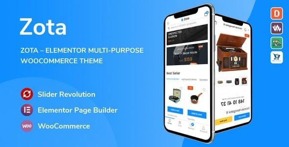 Zota 1.0.3 – Elementor Multi-Purpose WooCommerce Theme