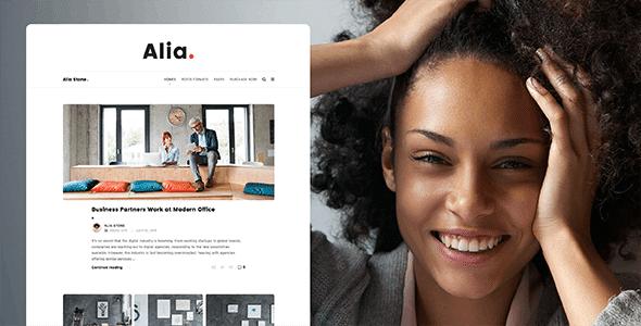 Alia 1.46 – Minimal Personal Blog