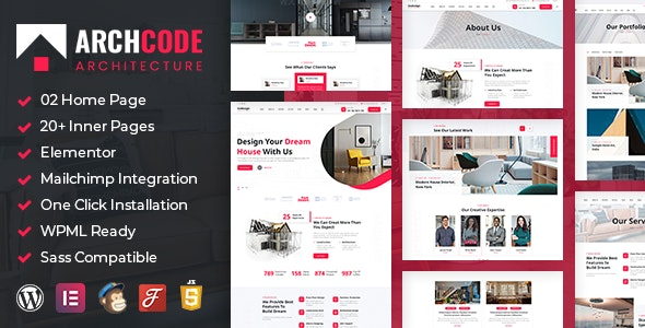 Archcode 1.1 – Architect Design WordPress Theme