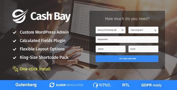 Cash Bay 1.0.9 – Loan & Credit Money WP Theme