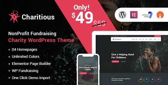 Charitious 2.9 – NonProfit Fundraising Charity WordPress Theme