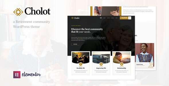 Cholot 1.1 – Retirement Community WordPress Theme