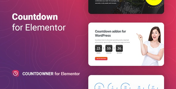 Countdowner 1.0.0 – Countdown Timer for Elementor