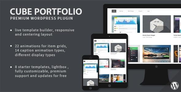 Cube Portfolio 1.16.8 – Responsive WordPress Grid Plugin